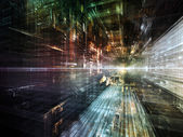 Lights of Future City — Stockfoto