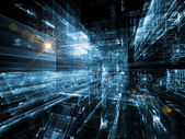 Visualization of Digital City — Stockfoto