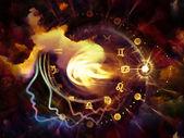 Perfil de astrologia — Fotografia Stock