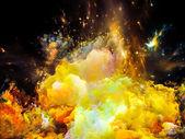 虚拟的猎户座大星云 — 图库照片