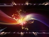 Evolución de los reinos fractal — Foto de Stock