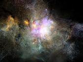 виртуальный фрактальной туманностей — Стоковое фото