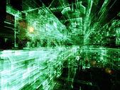 Visualization of Digital City — Stock Photo