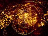 Virtual Life of DNA — Stock Photo