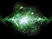 Fali kwantowej — Zdjęcie stockowe