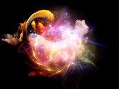 Nebulosas diseño colorido — Foto de Stock
