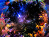 Dinámica de la nebulosa — Foto de Stock