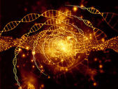 Virtual Life of DNA — Stock Photo
