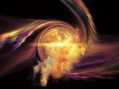 Vortex in Space — Стоковое фото