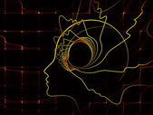 Metaphorische seele geometrie — Stockfoto