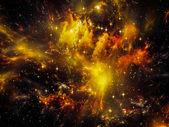 Nebula Landscape — Stock Photo