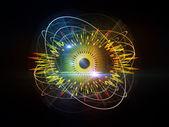 Oko cząstek — Zdjęcie stockowe