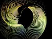 Ewolucja duszy geometrii — Zdjęcie stockowe