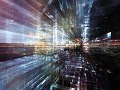 Lichter der Großstadt zukünftige — Stockfoto