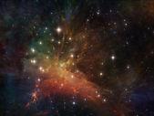 空间的灯光 — 图库照片