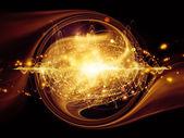 Energie van atoom — Stockfoto