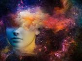 Nebula Girl — Stock Photo