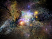 Visualization of Fractal Nebulae — Stock Photo