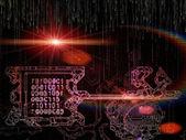Computing Key Code — Stock Photo