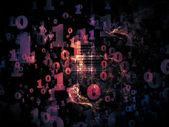 Nummer abstractie — Stockfoto