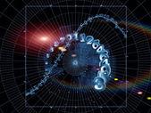 виртуальный геометрия — Стоковое фото