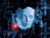 Numery umysłu — Zdjęcie stockowe
