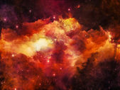 Visualization of Nebula — Stock Photo