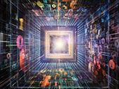 цифровая жизнь чисел — Стоковое фото