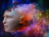 Girl Nebula — ストック写真