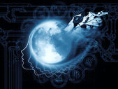 Magnetism of the Moon — Stock Photo