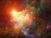 Nebula Backdrop — 图库照片