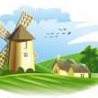 Royalty-Free Stock Photo: Windmill in field