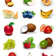 Fruits and berries illustrations — Stock Photo #14269875