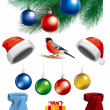 Collection of Christmas objects — Stock Photo #16803515