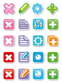 Buttons or icons for web. — Stock Photo