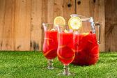 Chilled Orange Lemon Sangria — Stock Photo