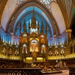 The Notre-Dame Basilica in Montreal — Stock Photo
