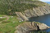 Meat Cove camp ground, Cape Breton Island — Stock Photo