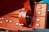 Rudder and propeller of a fish trawler — Stock Photo
