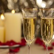 Stock Photo: Gold glitter Wedding reception setting