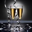 Champagne glasses in New Years party look — Stock Photo #19311425