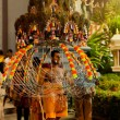 Devotee carrying a kavadi at Thaipusam in Singapore EDITORIAL US — Stock Photo