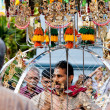 Devotee carrying a kavadi at Thaipusam in Singapore EDITORIAL US - Stock Photo