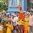 Devotees at the annual Thaipusam processionin Singapore EDITORIA — Stock Photo