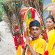 Devotees at the annual Thaipusam processionin Singapore EDITORIA - Stock Photo