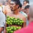 Stock Photo: Devotees at annual Thaipusam processionin Singapore EDITORIA