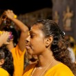 Stock Photo: Female devotee at annual Thaipusam procession, Singapore.EDI