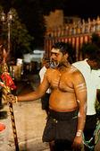 Věřící na roční thaipusam processionin singapur editoria — Stock fotografie