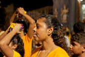 Female devotee at the annual Thaipusam procession, Singapore.EDI — Stock Photo