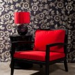 Black red Chair — Stock Photo #21918991